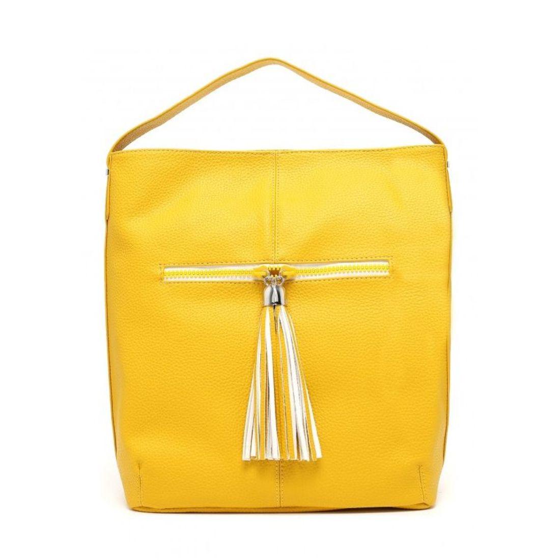 LIU JO Borsa Hobo EUBEA N16069 Empire Yellow - Bagsabout efd7ece7ca7