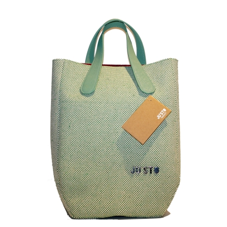JU'STO Borsa Personalizzabile J-1 Intrecciato Verde