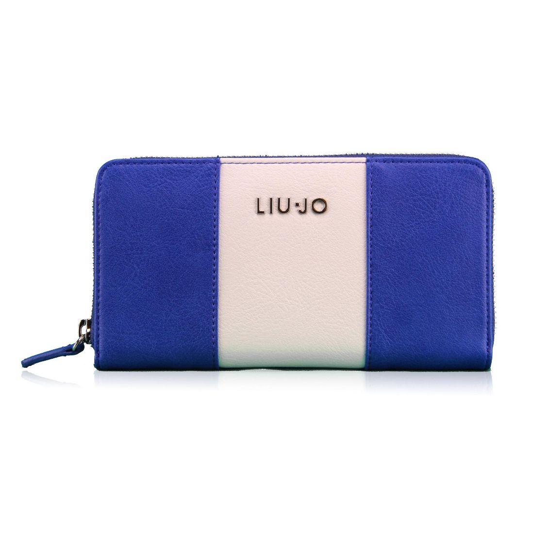 LIU JO Portafogli Zip Around IO N16044 Blu Palazzo - Bagsabout f6aaafd5505