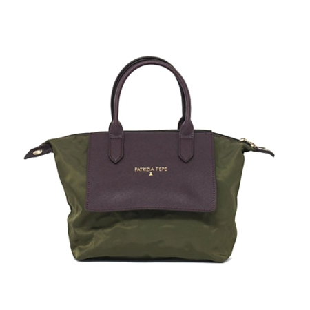 PATRIZIA PEPE Borsa Shopping Mini 2V6580 Military Nylon/Brown
