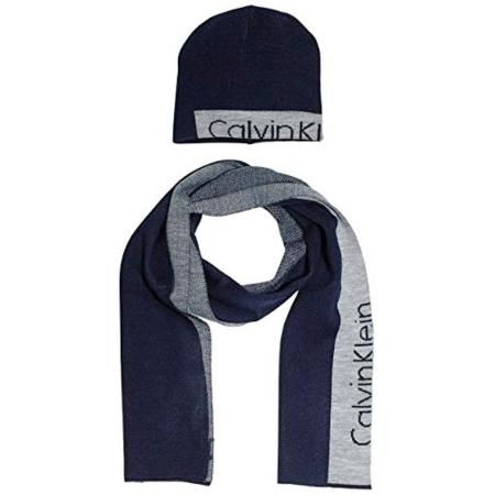 CALVIN KLEIN JEANS Gift-Set Cappello e Sciarpa K50K501337 Navy Blue