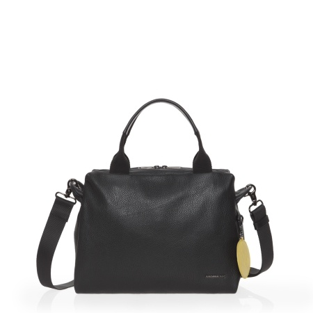 MANDARINA DUCK Mellow Leather Boston Bag FZT87 Nero