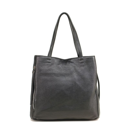 GIANNI CHIARINI Shopping Bag in Pelle BS 5620 Nero