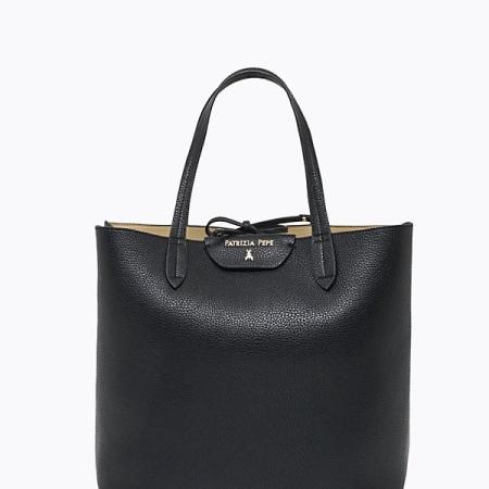 PATRIZIA PEPE Borsa Shopping Verticale 2V5517/AV63 Black/Beige