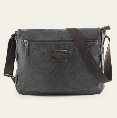 AVIREX Messenger bag Buffalo BFL-1643-02A-BK Grey
