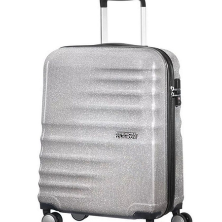AMERICAN TOURISTER Spinner WAVEBREAKER (4 ruote) 74133-6714 Silver Sparkle