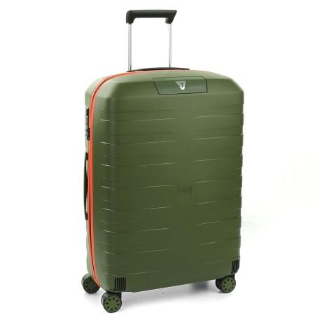 RONCATO Trolley Medio BOX2.0 4 Ruote Verde Militare/Arancione