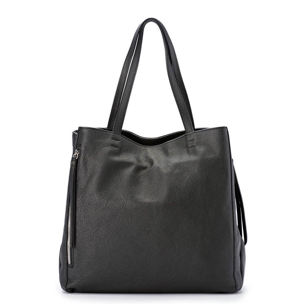 GIANNI CHIARINI Shopping in Pelle TWIN BS5620 Nero - Bagsabout 547ca4f31fc