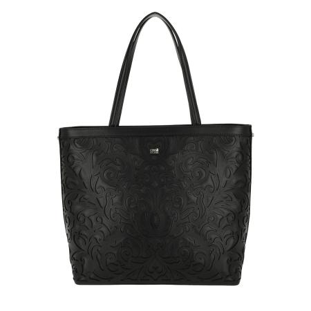 ROBERTO CAVALLI CLASS Shopping Bag in Pelle Venus CR8007 Black
