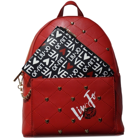 LIU JO Zaino Romantica M Backpack N19076 Feel Rouge 1bdec53d328