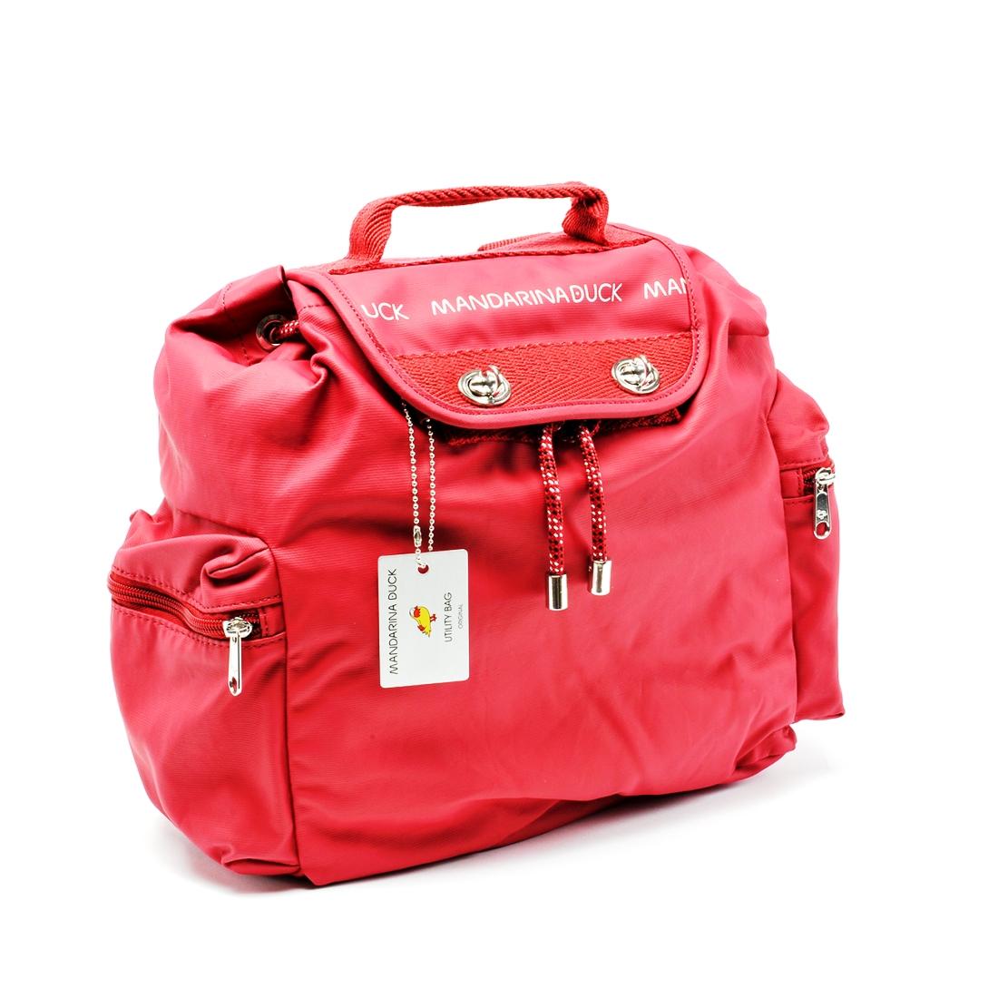 fe8037b3ba MANDARINA DUCK Zaino UTILITY HVT02 Brick Red - Bagsabout