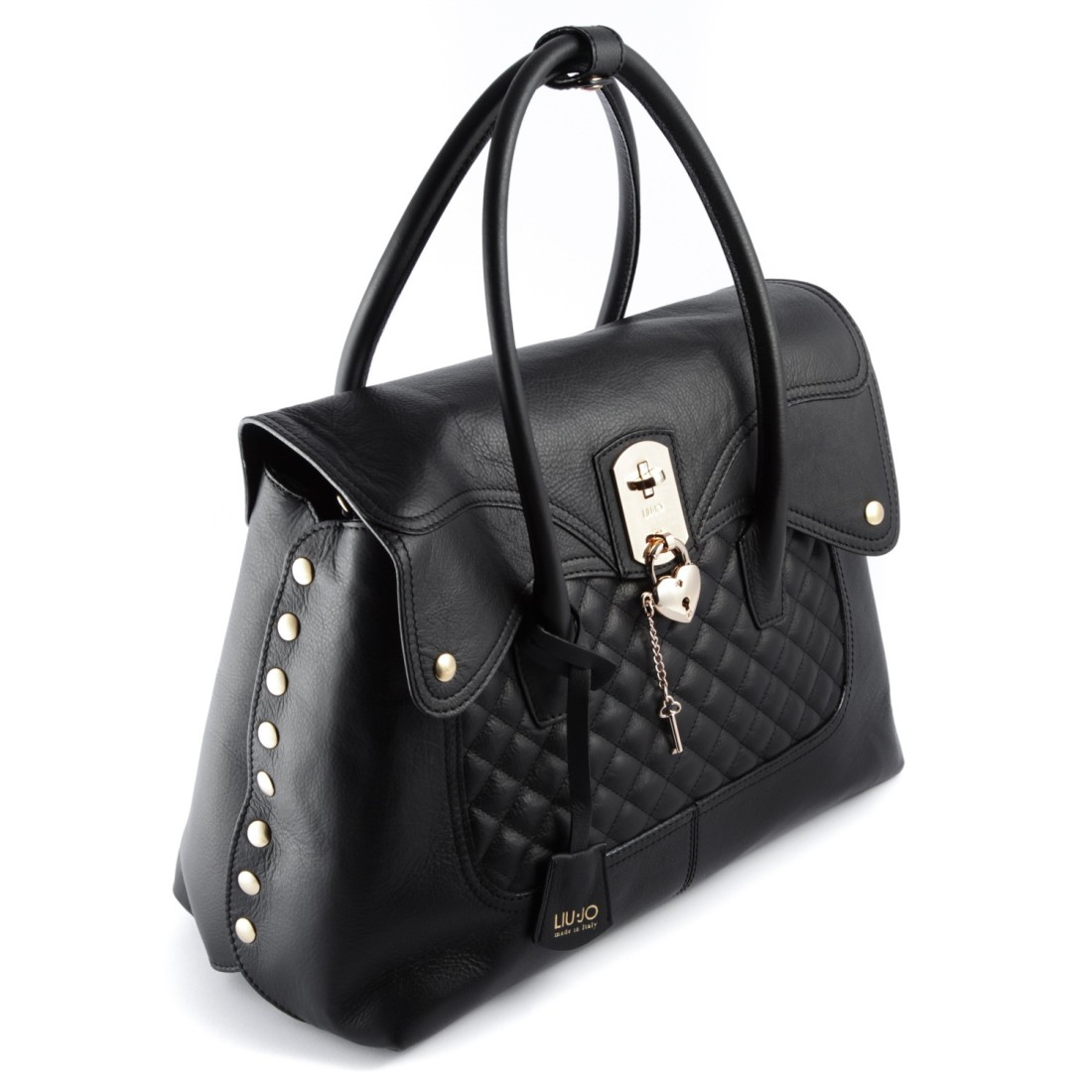 cb39ab858f8ec LIU JO Sac Rouge Shopping L BROOKLYN A65223 P0006 Nero - Bagsabout