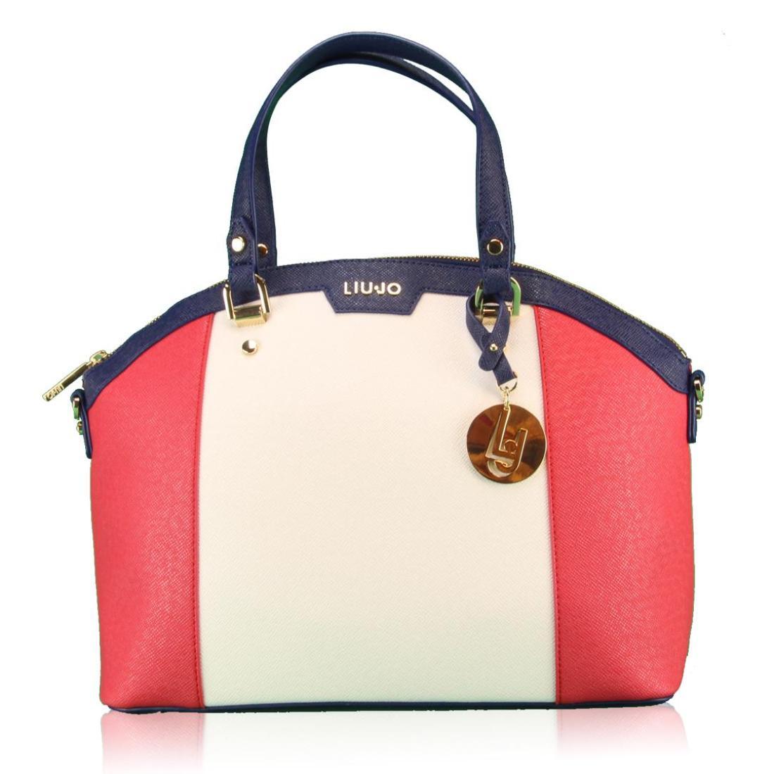 LIUJO Borsa Shopping M CANNES N16246 E0087 RossoBiancoBlu